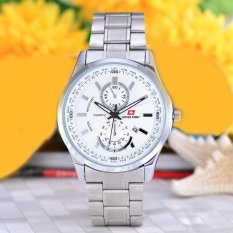 Swiss Army - Jam Tangan Pria - Body Silver - White Dial - Stainless Steel Band - SA-5520G-TGL-SW