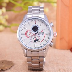 Swiss Army - Jam Tangan Pria – Body Silver – White Dial – Stainless steel band - SA- RT-286-SW-T/H