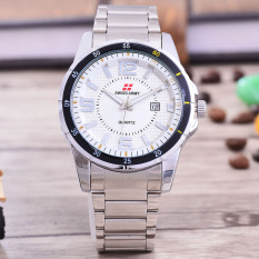 Swiss Army - Jam Tangan Pria – Body Silver – White Dial – Stainless steel band - SA-RT-5537–SW-TGL