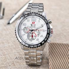 Rp 84.550. Swiss Army - Jam Tangan Pria - Body Silver - White Dial - Stainless Steel Band - SA-RT-5926-G-T/H-SWIDR84550