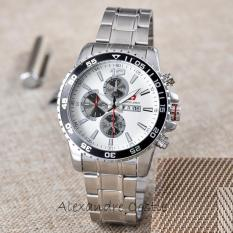 Swiss Army - Jam Tangan Pria - Body Silver - White Dial - Stainless Steel Band - SA-RT-5926-G-T/H-SWIDR84550. Rp 84.550