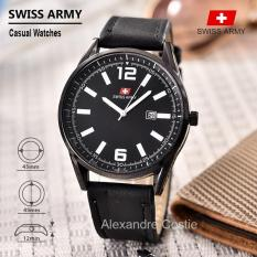 Swiss Army - Jam Tangan Pria - Casual Watches - Leather strap - SA -KLT