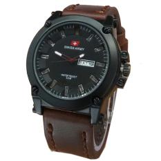 Spesifikasi Swiss Army Jam Tangan Pria Cokelat Hitam Strap Kulit Sa630Yd Terbaru