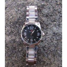 Beli Swiss Army Jam Tangan Pria Dan Wanita Hitam Putih Strap Stainless Steel Sab A10 Sml Dengan Kartu Kredit