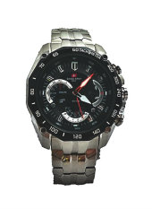 Swiss Army Jam Tangan Pria HCC 00268 Body Silver + Bezel Hitam (Limited Edition)