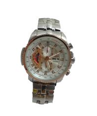 Swiss Army Jam Tangan Pria HCC 00272 Body Silver Bezel Putih List Gold ( Limited Edition)