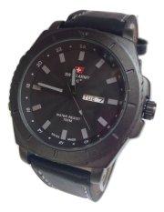 Beli Swiss Army Jam Tangan Pria Hitam Abu Strap Leather Sa 4151