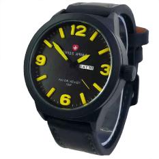 Toko Swiss Army Jam Tangan Pria Hitam Strap Leather Sa 4055 Black Yellow Terlengkap