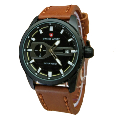 Jual Swiss Army Jam Tangan Pria Leatehr Strap Light Brown Sa 1380 Kl Swiss Army Grosir