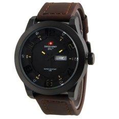 Toko Swiss Army Jam Tangan Pria Leather Coklat Tua Sa 4058 Terlengkap