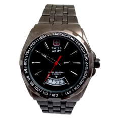 Beli Swiss Army Jam Tangan Pria Leather Stainlesstell Sa1983M Black Swiss Army Online