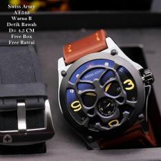 Harga Swiss Army Jam Tangan Pria Leather Strap Terbaru