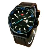Swiss Army Jam Tangan Pria Leather Strap Murah