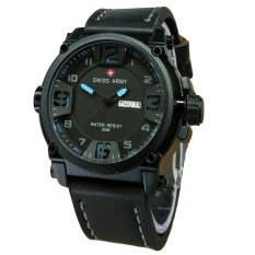 Toko Swiss Army Jam Tangan Pria Leather Strap Black Sa 1441 Bb Black Blue Terlengkap Jawa Barat