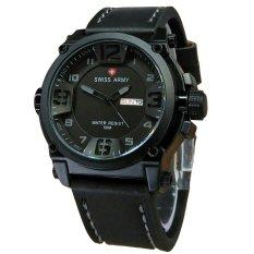 Ulasan Tentang Swiss Army Jam Tangan Pria Leather Strap Black Sa 1441 Black Grey