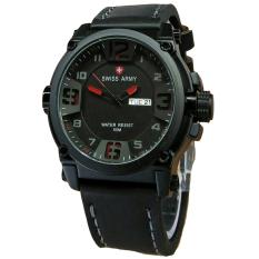 Review Terbaik Swiss Army Jam Tangan Pria Leather Strap Black Sa 1441 Br Black Red