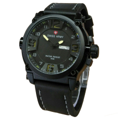 Promo Swiss Army Jam Tangan Pria Leather Strap Black Sa 1441 Vb Black White Jawa Barat