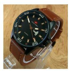 Spesifikasi Swiss Army Jam Tangan Pria Leather Strap Coklat Gold Sa 1109 Brown Yang Bagus Dan Murah