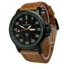 Jual Swiss Army Jam Tangan Pria Leather Strap Coklat Muda Sa 3465 X Di Jawa Barat