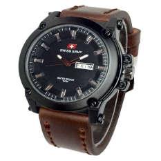 Swiss Army Jam Tangan Pria Leather Strap Coklat Sa 1055 Dark Brown Dki Jakarta