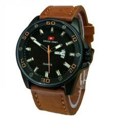 Tips Beli Swiss Army Jam Tangan Pria Leather Strap Coklat Sa 1055 Dark Brown