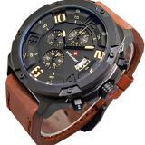 Toko Jual Swiss Army Jam Tangan Pria Leather Strap Coklat Sa 4020 Db