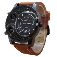 Cara Beli Swiss Army Jam Tangan Pria Leather Strap Coklat Sa 4950 Za