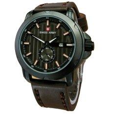 Swiss Army Jam Tangan Pria - Leather Strap - Dark Brown - SA 1382 DIDR235000. Rp 235.000