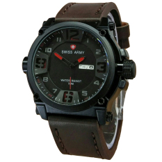 Diskon Swiss Army Jam Tangan Pria Leather Strap Dark Brown Sa 1441 Db Swiss Army Di Jawa Barat