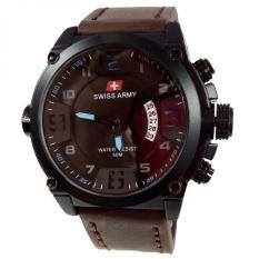 Toko Swiss Army Jam Tangan Pria Leather Strap Dark Brown Sa 1446 Dbb Murah Di Jawa Barat