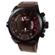 Tips Beli Swiss Army Jam Tangan Pria Leather Strap Dark Brown Sa 1446 Dbw