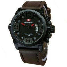 Harga Swiss Army Jam Tangan Pria Leather Strap Dark Brown Sa 1447 Dbr Swiss Army Original