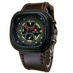 Perbandingan Harga Swiss Army Jam Tangan Pria Leather Strap Dark Brown Sa 1448 Dbr Swiss Army Di Jawa Barat