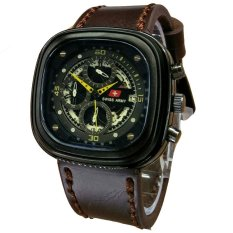 Beli Swiss Army Jam Tangan Pria Leather Strap Dark Brown Sa 1448 Dby Online Terpercaya
