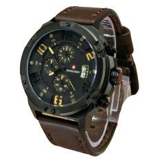 Harga Swiss Army Jam Tangan Pria Leather Strap Dark Brown Sa 4030 Dby Asli