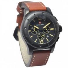 Model Swiss Army Jam Tangan Pria Leather Strap Dark Brown Sa 9739 Db Terbaru