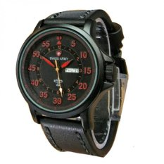 Review Swiss Army Jam Tangan Pria Leather Strap Hitam Sa 3465 V