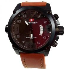 Promo Swiss Army Jam Tangan Pria Leather Strap Light Brown Sa 1446 Lbw Swiss Army
