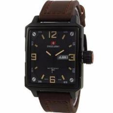 Spesifikasi Swiss Army Jam Tangan Pria Leather Strap Sa 018873 Paling Bagus