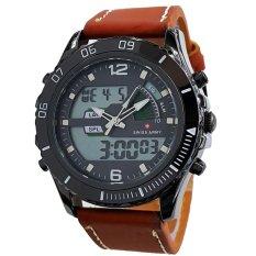 Spesifikasi Swiss Army Jam Tangan Pria Leather Strap Sa 1018 Cokelat Muda Online