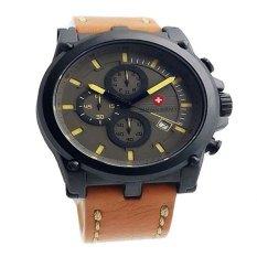 Toko Swiss Army Jam Tangan Pria Leather Strap Sa 1285 Coklat Muda Online