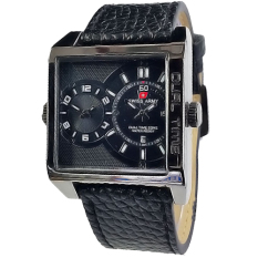 Jual Swiss Army Jam Tangan Pria Leather Strap Sa 1747 Hitam Swiss Army Online