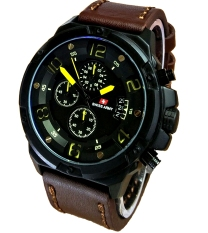 Jual Swiss Army Jam Tangan Pria Leather Strap Sa 2969Db Kuning Swiss Army Murah