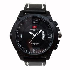 Jual Swiss Army Jam Tangan Pria Leather Strap Sa 4019 Br Online Di Dki Jakarta