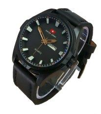 Harga Swiss Army Jam Tangan Pria Leather Strap Sa 4050 Fb Seken