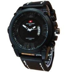 Review Tentang Swiss Army Jam Tangan Pria Leather Strap Sa 4099 Hitam Putih