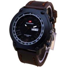 Beli Swiss Army Jam Tangan Pria Leather Strap Sa 4242 Dm Putih Murah Di Jawa Barat