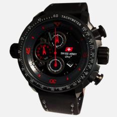 Harga Swiss Army Jam Tangan Pria Leather Strap Sa 4445 Bc Merah Murah