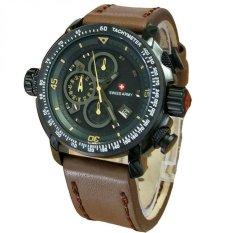 Jual Swiss Army Jam Tangan Pria Leather Strap Sa 5046 Dby Swiss Army