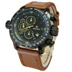 Harga Swiss Army Jam Tangan Pria Leather Strap Sa 5046 Lby Yang Murah Dan Bagus